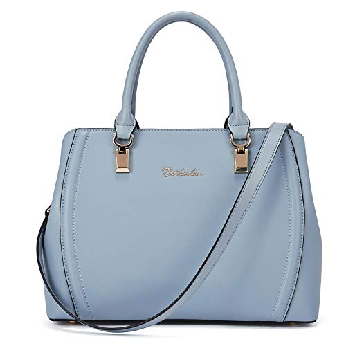 BOSTANTEN Women Leather Handbag Designer Top Handle Satchel Shoulder Bags Crossbody Purses Blue