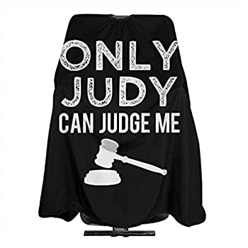 MJhair Joke Only Judy Can Judge Funny Saying Lawyer Haircut Apron Hairdressing Cape Hair Cutting for Men Women Adults