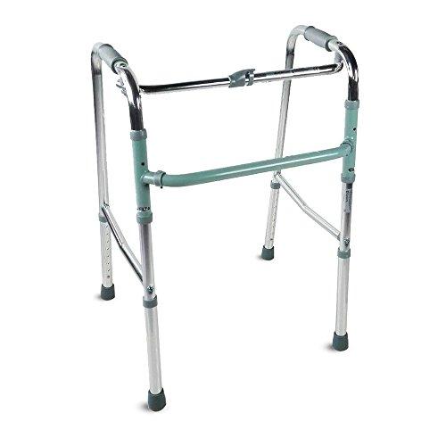 Mobiclinic, Modelo Columna, Andador para adultos, ancianos, mayores o minusvalidos, de aluminio, ligero, plegable, Sin ruedas, Color Gris