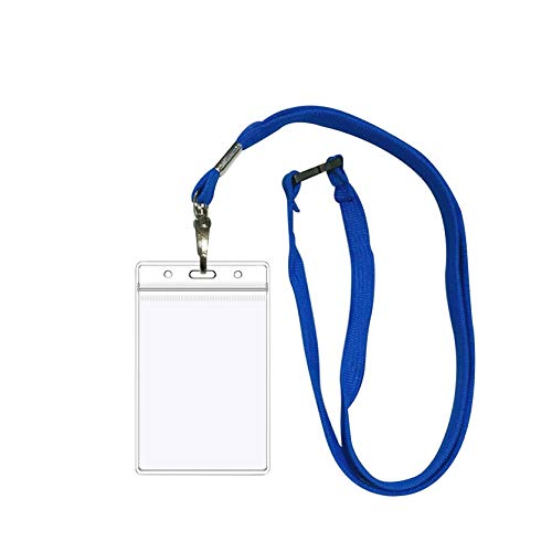 Clear-CDC Health Card Vaccine Card Protective Case 3 X 5 Inches Card Holder Vertical Waterproof PVC Soft Card Case Holder Vinyl Plastic Sleeve with Waterproof Type Resealable Zip(Blue Tape) (100Pcs)