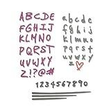 Sizzix Set di Fustelle Thinlits 4Pz Alfabeto e Numeri Scarabocchiati, Multicolor, taglia unica