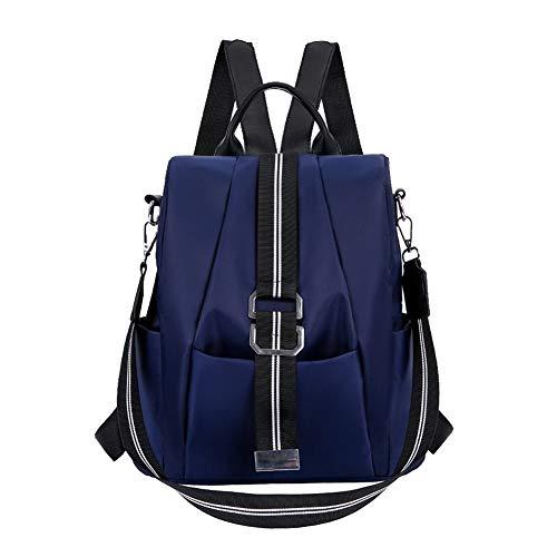BARUYO dames mode waterdichte anti-diefstal schoolrugzak, lichte reistas van Oxford-stof, leuke meisjes, stijlvolle rugzak handtassen dagrugzak 11,4 x 4,7 x 12,6 blauw