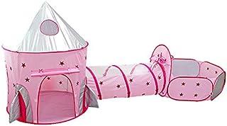 3 i 1 barns tält: bollpool + barnhus + lektunnel: vikbar babypark barnbollar inomhus utomhus trädgård leksaker pojkar flic...