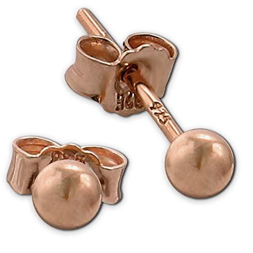 SilberDream Pendientes de plata 925 para mujer de color oro rosa, SDO597E3S
