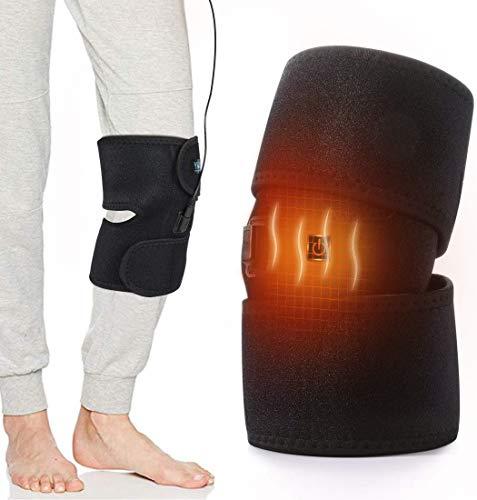 Haofy Beheizte Kniebandage Wärme Knieschoner für Arthritis Schmerz Gelenkschmerzen Rheuma, Heizungknieschützer Warm Kniestütze Knieorthese für Damen und Herren