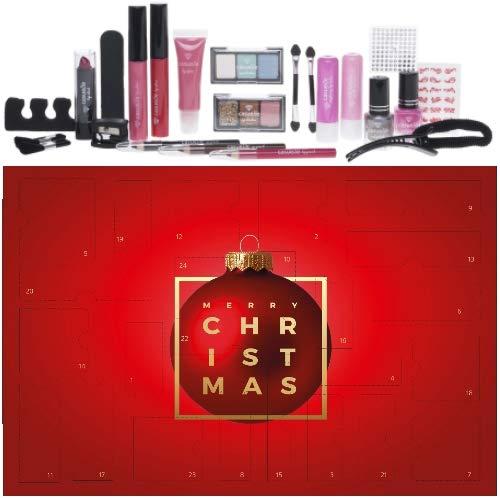 Super Edle Kosmetik Adventskalender Advent of Beauty Surpris 24 teilig Hit! (red)
