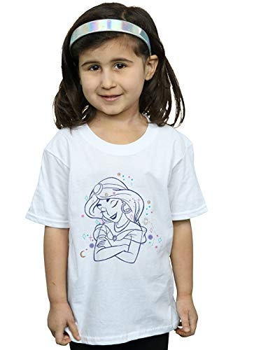 Disney Niñas Aladdin Princess Jasmine Constellation Camiseta
