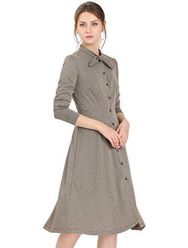 Allegra K - Damen A-Linien Kleid in Midi-Länge