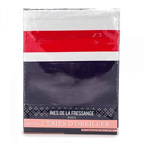 2 taies d'oreiller réversibles 50x70cm INES DE LA FRESS