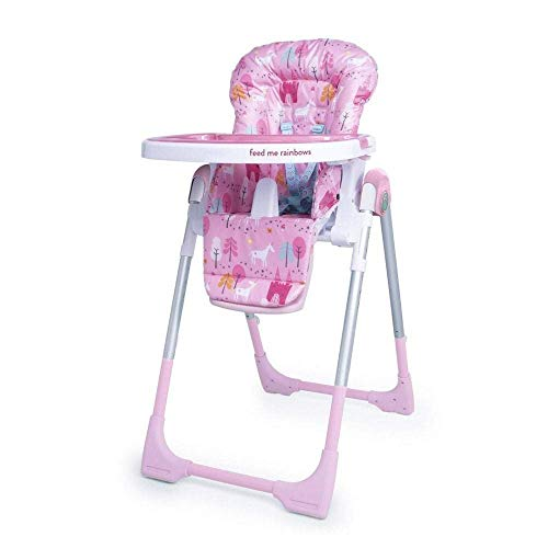 Cosatto Noodle 0+ Highchair - Compact, Height Adjustable, Foldable, Easy Clean, From birth to 15kg (Unicorn Land)