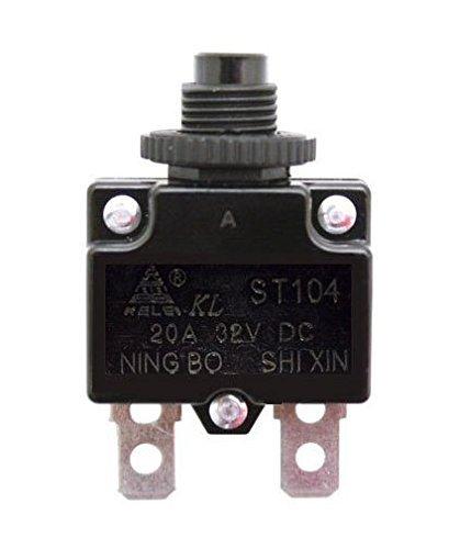 Razor 20A Reset Switch for Razor E100, E200, E300, eSpark, Pocket Rocket, Ground Force, Ground Force Drifter, & Mini Chopper (Razor Factory Original 20 Amp Circuit Breaker Switch)