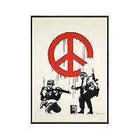 Banksy バンクシーポスター Poster ストリートグラフィティアートパネルアニマルアートパネルワークウォールアートパネル画像ポップマウスポスター Poster とプリント寝室の家の壁飾りキャンバスアート絵画インテリア40x60cmフレームなし 名画 絵画 インテリア おしゃれ ポスター 北欧 フレームなし