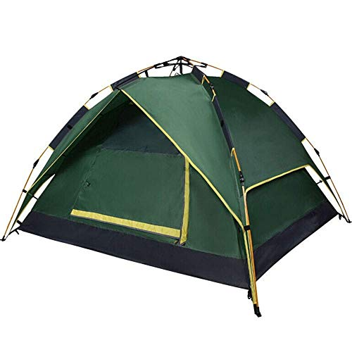 Outdoor Waterproof Tent, Dome Tents Pop Up Instantly Waterproof UV 3-4 Person Double-door Camping And Beach Suitable for Camping (Color , Green, Size , 220X190X120CM),Easy to Inst... for Beach Camping