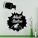 wZUN Salón de uñas Tatuajes de Pared salón de Belleza Mujer Esmalte de uñas Tinta de Salpicadura diseño de manicura Decorativo Pegatina de Vinilo 63X79cm