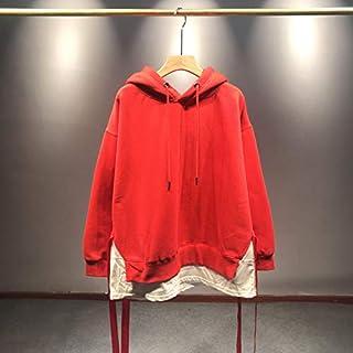 Sudadera con CapuchaSudadera con Capucha de Invierno Cardigan de Mujer Top Ropa de Mujer de Color sólido Código Promedio Rojo