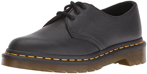 Dr. Martens 1461 Virginia, Scarpe Stringate Basse Brogue Donna, Nero, 40 EU