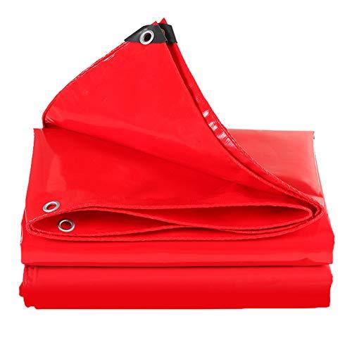 Waterdicht dekzeil, zonnecrème, regenbescherming, scheurvast dekzeil, krachtige luifeldoek, in verschillende maten 24x30ft-8x10m rood
