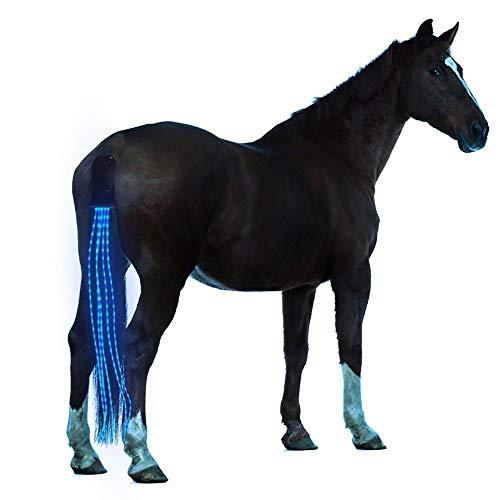 JOMOT 40Inch Horse Tail USB Coda Luci LED Addebitabile Sottocoda Cablaggio Cavallo Equestre Sport E Le Luci Horse,Blu