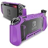Mumba Coque de protection en TPU avec prise en charge pour Nintendo Switch et manette Joy-Con Violet