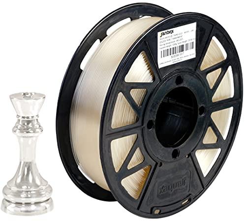 JANBEX Pla Filament 1.75 mm | 1kg Spule in Transparent | für 3D Drucker oder Stift | 3D-Drucker Zubehör | 1,75 mm Fillament auf der Rolle | Druck Fillamentum | verschiedene Farben | Printer