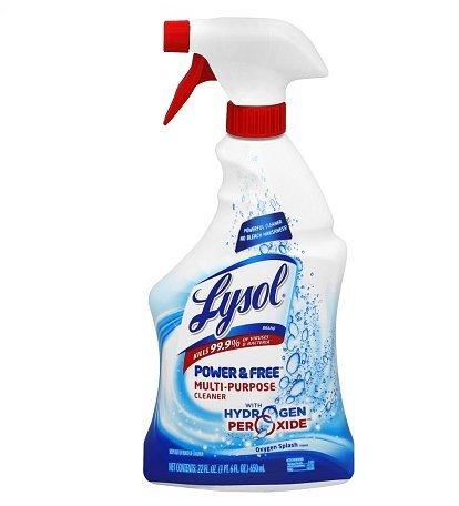 Lysol Power & Free Multi-Purpose Cleaner Oxygen Splash 22.0fl oz, 8 PK