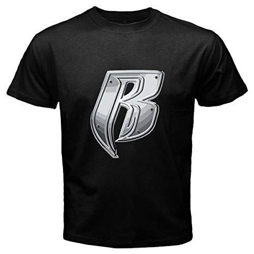 New Ruff Ryders Rap Hip Hop Group Music Logo Men's Black T-Shirt Size S to 3XLBlack XXL