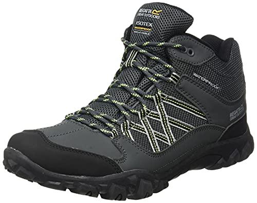 Regatta Edgepoint Waterproof Hiking Boot, Zapatillas de Senderismo Hombre, Marrón (Briar/Lime Punch 824), 45 EU