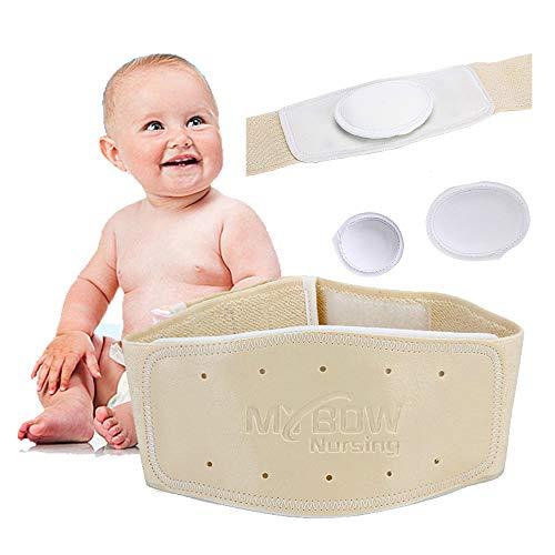Umbilical Ombligo Navel Hernia Truss Cinturón para el vientre del bebé Abdominal Hernia Binder ajustable soporte Wrap con tres almohadillas extraíbles