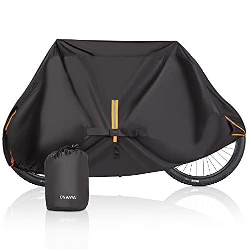 ONVAYA® Cubierta de bicicleta prémium para 2 bicicletas, lona impermeable para bicicleta,...