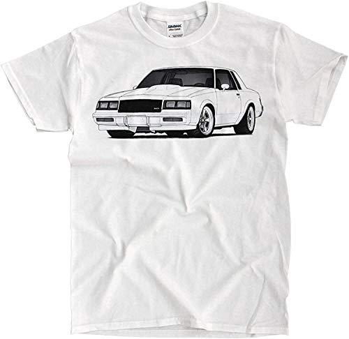 Top-Tshirt Buick Grand National 1986 Drawing White T-Shirt