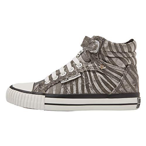 British Knights Dee Mädchen-Sneaker, Grau - Graues Zebramuster - Größe: 35 EU