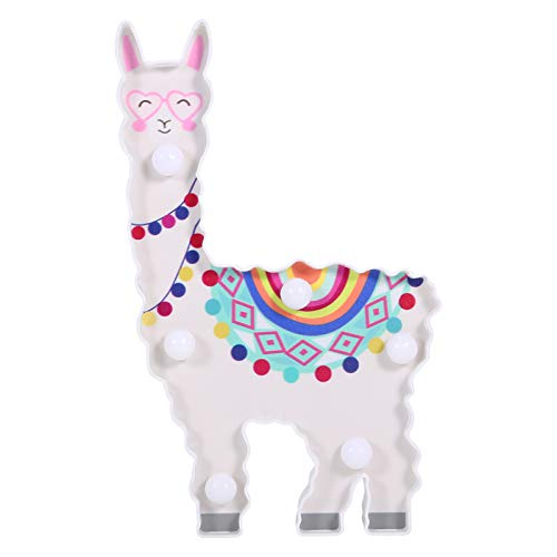 Kuuleyn 6 LED Colorful Unicorn Night Light, Cute Animal Shape, Battery Operated, for Room Table Christmas Party Wall Decoration Lamp for Living Bedroom(Blanco cálido)