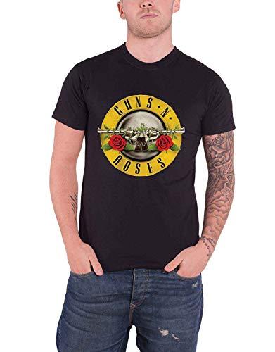 Guns N Roses T Shirt Classic Band Logo Album Cover Ufficiale Uomo nuovo nero