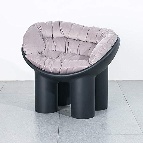 WUJNFAJFA Sofá Individual sillón balcón para el hogar sillón Creativo Funda para pies de Elefante cojín Suave Moldeado para pies Hermoso y práctico, cojín GT Negro