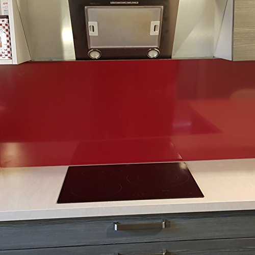 stützt für Dunstabzugshaube/Kredenz Aluminium rot pourpre- 11Größen–Höhe 35cm x, Rouge Pourpre, Longueur 130 cm