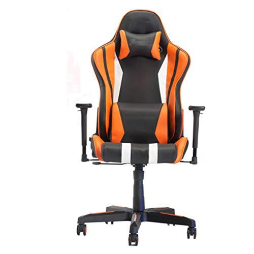 Silla de juegos, silla de juegos, asiento de cápsula de espacio en casa, silla profesional, silla de ordenador de ocio, reposabrazos de elevación naranja