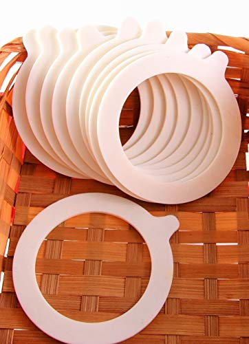JAR RUBBER SEAL RINGS 92/68mm (10pcs) - White Jar Replacement Seals for Preserve by AlcoFermBrew