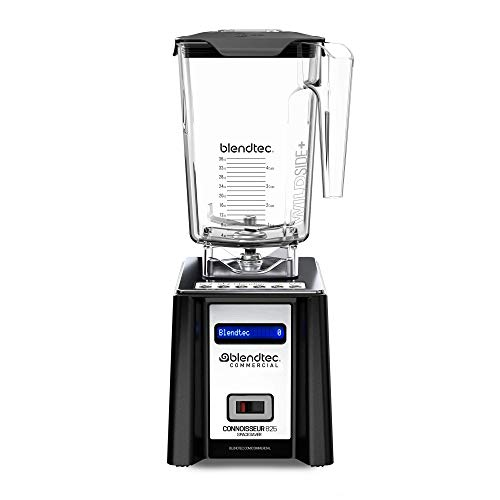 Blendtec Connoisseur 825 SpaceSaver Blender - WildSide+ Jar (90 oz) - Professional Blender for Shakes and Smoothies - Professional-Grade Power- 30 Pre-programmed Cycles - Black