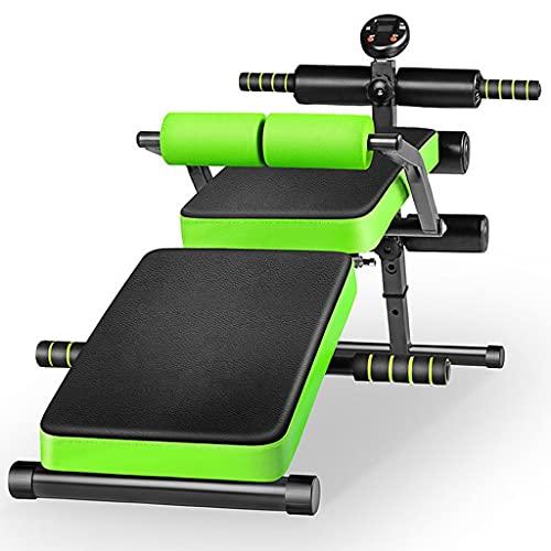 JIAX - Panca da allenamento regolabile con supporto per la schiena, pieghevole, per allenamento e sollevamento pesi, per esercizi di casa, palestra, addominali (colore: verde)