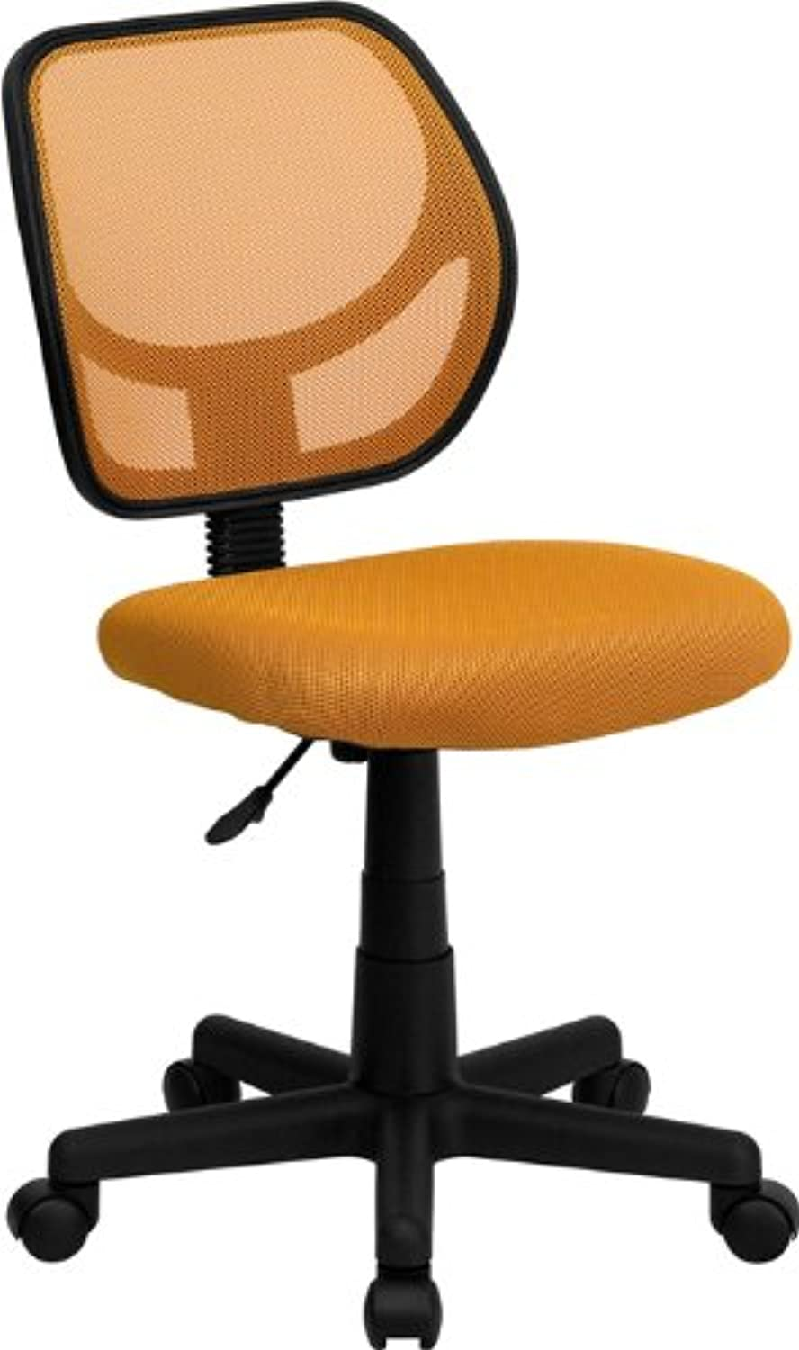 Flash Furniture WA-3074-OR-GG Mid-Back orange Mesh Task and Computer Chair