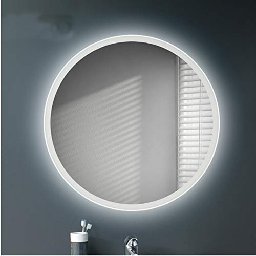 Wandlamp, spiegellamp, anti-condens, badkamerspiegel, led-wandlamp, rond, spiegel, waterdicht, 60 cm