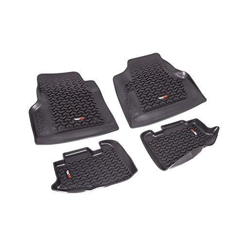 Rugged Ridge 12987.10, Black Front and Rear All-Terrain Floor Liner Kit For 1997-2006  Jeep Wrangler TJ and LJ Models