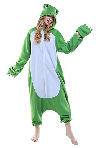 ABYED Pijama Animal Entero Unisex para Adultos Niños con Capucha Ropa de Dormir Traje de Disfraz para Festival de Carnaval Halloween Navidad