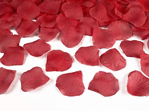 100 Rosenblätter aus Stoff rot Hochzeit Streublumen Blumenkinder Rosenblüten Tischdeko