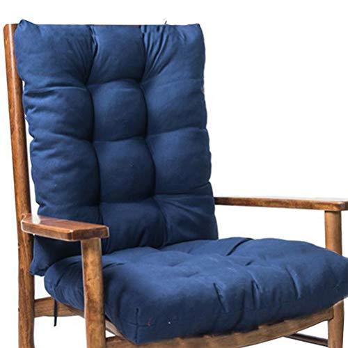 ALBEFY Cojines para silla de jardín, 2 piezas de cojín grueso para asiento de ratán, cojín de respaldo e inferior para...