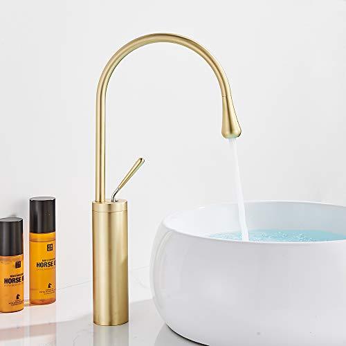 Onyzpily - Grifo monomando para lavabo (acabado dorado)