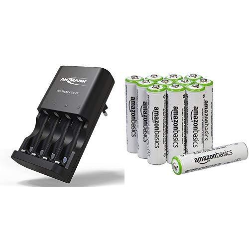 ANSMANN Batterieladegerät Powerline 4 Smart - Universal Akku Batterie Ladegerät für Ni-MH AA & AAA Akkubatterien - Schnellladegerät für Akkus & wiederaufladbare Batterien - Akkuladegerät Bild