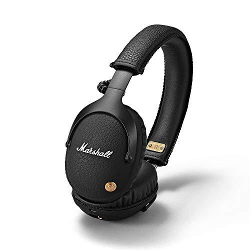 Marshall Monitor Bluetooth - Auriculares APTX, tecnología bluetooth, con más de 30 horas de tiempo de reproducción, Negro