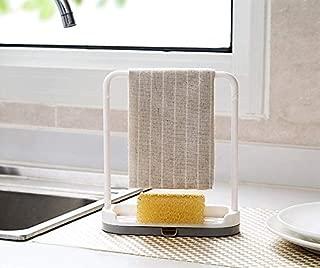 Feel Soon Retail Dishcloth Holder Sponge Holder Stand Rack (Grey)