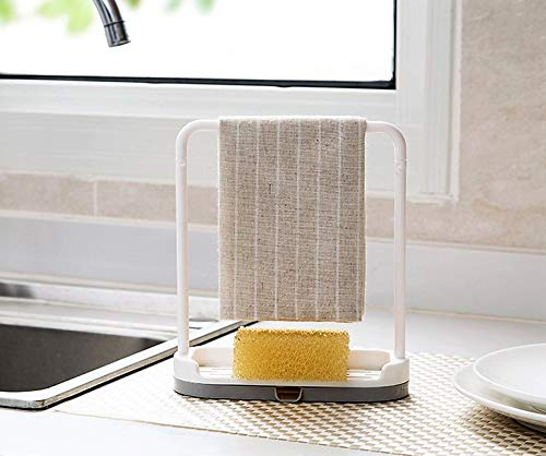 Feel Soon Retail Dishcloth Holder Sponge Holder Stand Rack (Beige)